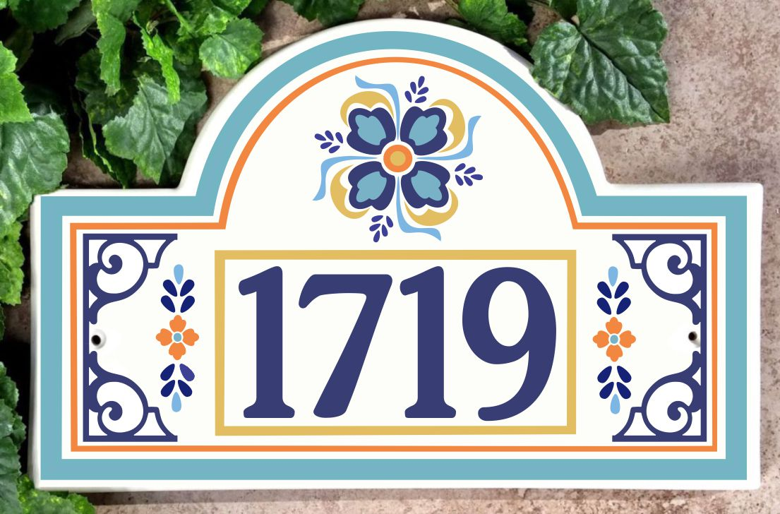 Barcelona House Number Plaque