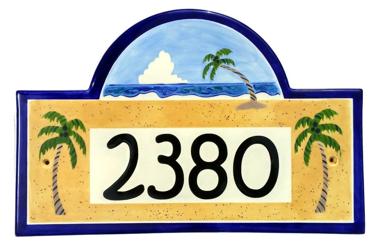 Address plaques gallery ceramic address plaques ceramic house tropical beach 2016g dailygadgetfo Gallery