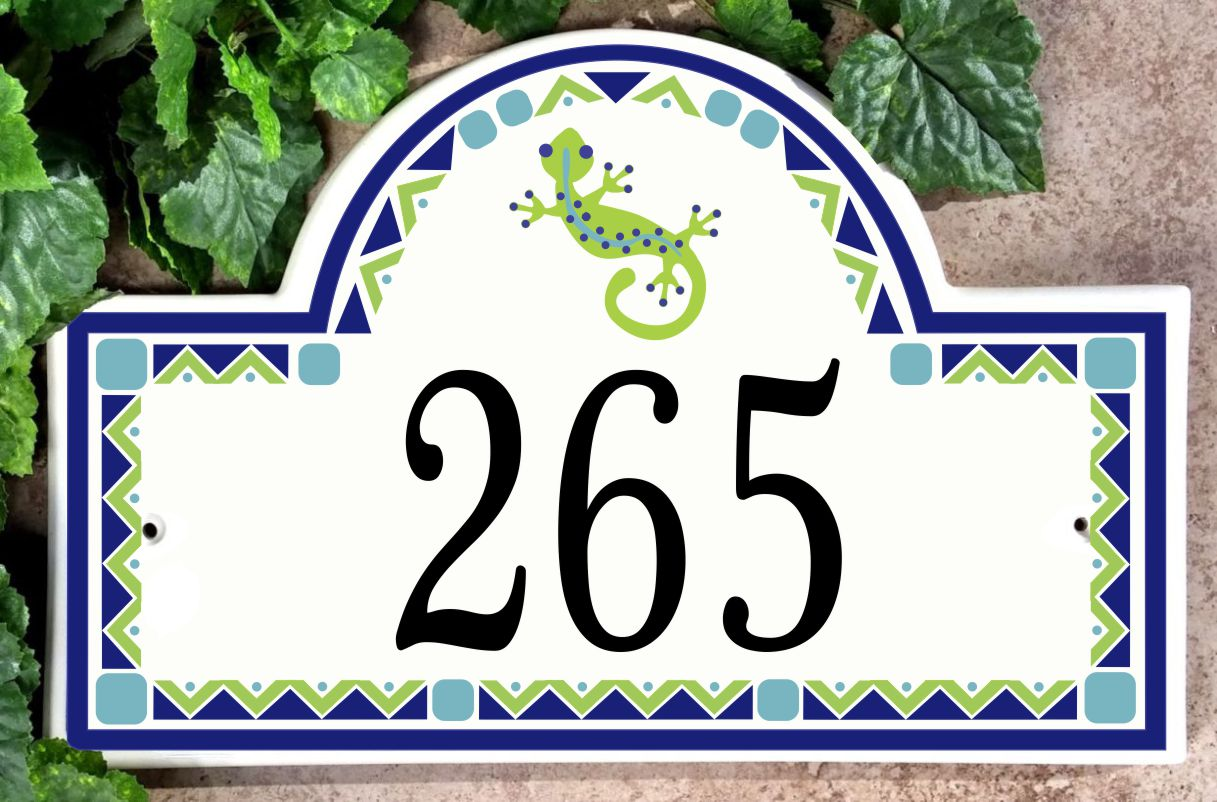 Gecko Address House Number Plaque
