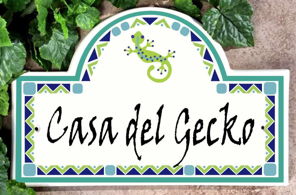Gecko House Plaque with Name