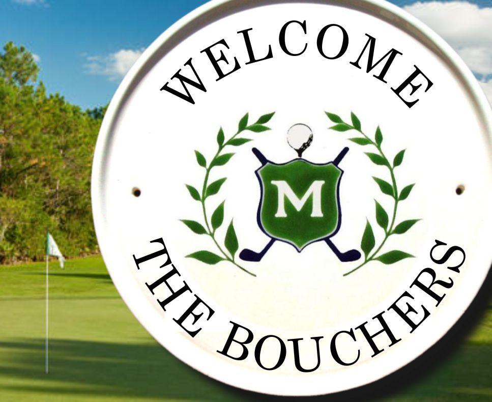 Golf Monogram Welcome Plaque