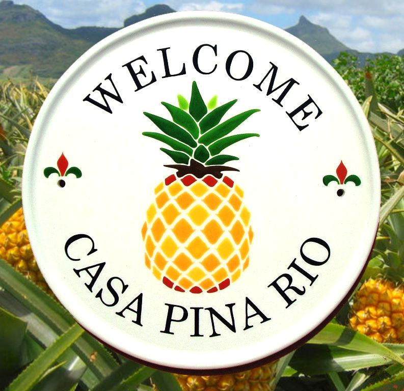 Pineapple Address Signs and House Plaque