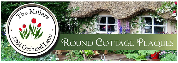 Round Cottage Address Plaques and House Number Signs