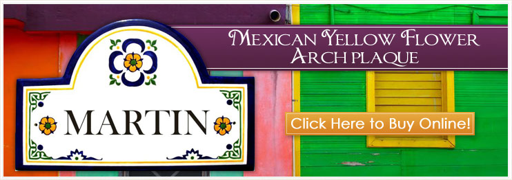 Mexican Style Address Plaques and House Number Signs